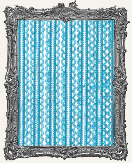 German Dresden Border Mini Scalloped AQUA 16 Strips
