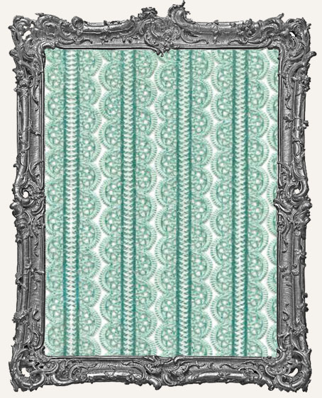 German Dresden Border Fancy Scalloped MINT 10 Strips