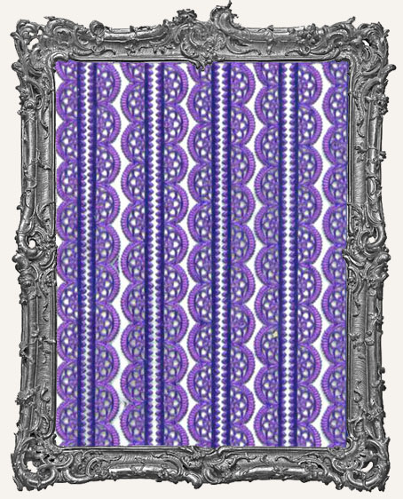 German Dresden Border Fancy Scalloped VIOLET 10 Strips