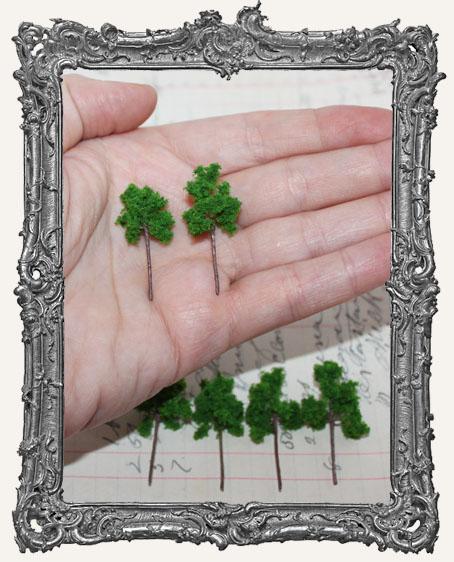 Miniature GREEN Trees - Set of 2
