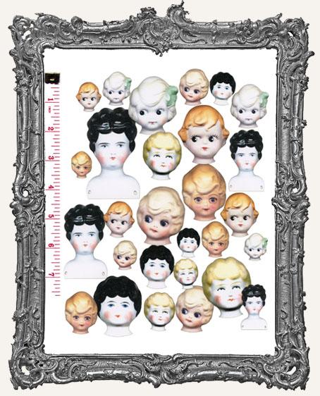 28 Antique Doll Head Paper Cuts