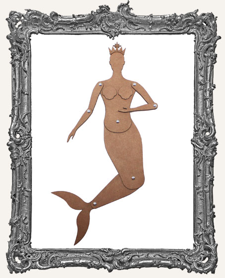 Articulated CHIPBOARD Mermaid Art Doll Kit - SMALL, MEDIUM, or LARGE