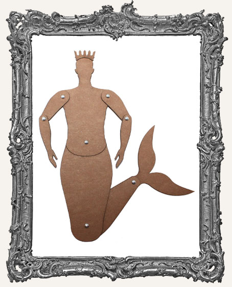 Articulated CHIPBOARD MerMAN Art Doll Kit - SMALL, MEDIUM, or LARGE