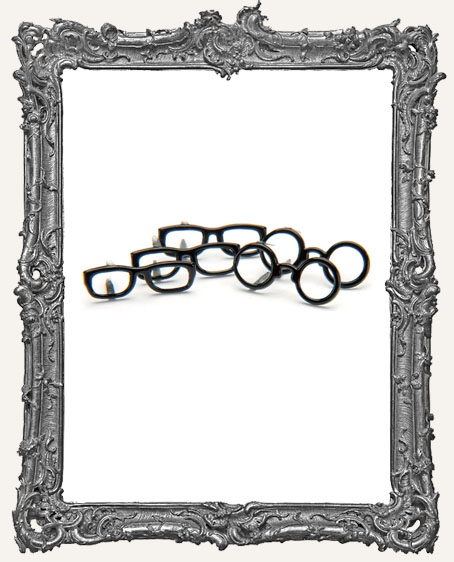 Black Glasses Brads - 12 Piece