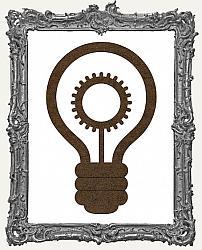 Mixed Media Creative Surface Board - Layered Light Bulb Style 2