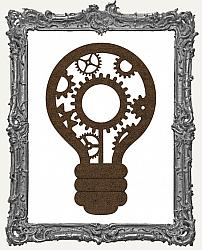 Mixed Media Creative Surface Board - Layered Light Bulb Style 3