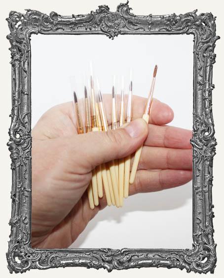 Mini Detail Paint Brushes - Set of 10