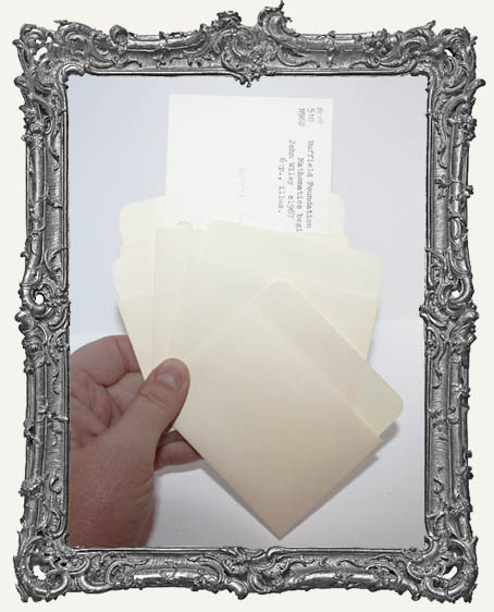 Library Card Envelopes - Set of 5