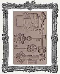 Prima Re-design Art Decor Mould - Mechanical Lock and Keys