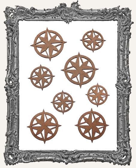 Compass Rose Cut-Outs - 8 Pieces