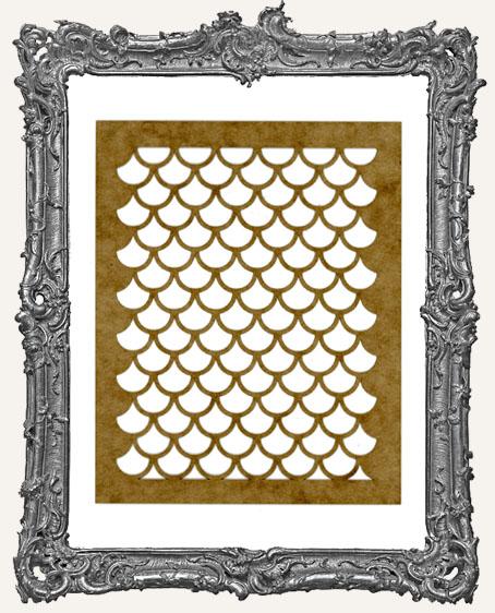 Small fish scales stencil for Fish scale stencil