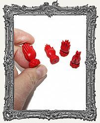Cinnamon Red Praying Hands Lotus Bead - 1 Piece
