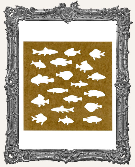 LARGE School of Fish Stencil