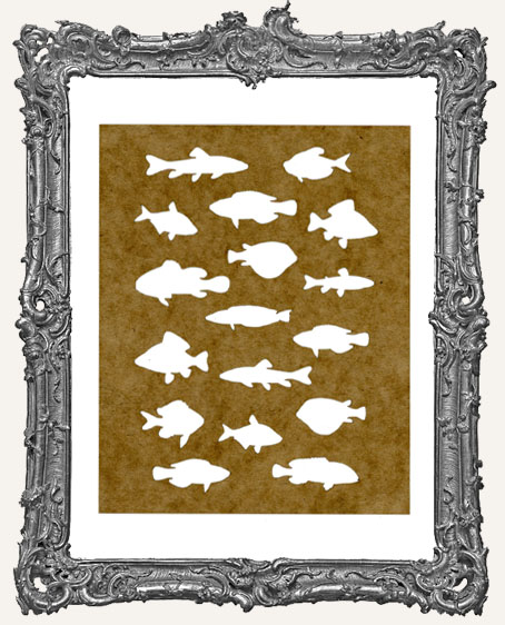 SMALL School of Fish Stencil