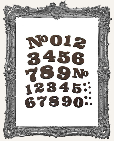 Vintage Number Cut-Outs - 22 Pieces