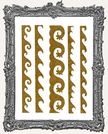 LARGE Wave Stencil Border Strips