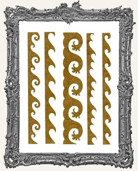 LARGE Wave Stencil Border Strips