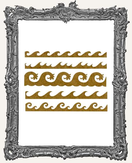 SMALL Wave Stencil Border Strips