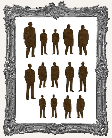 Bus Stop Man Cut-Outs - 14 Pieces