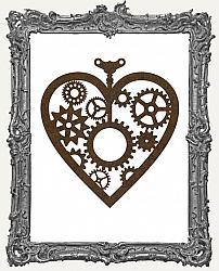 Mixed Media Creative Surface Board - Layered Steampunk Heart