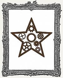 Mixed Media Creative Surface Board - Layered Steampunk Star