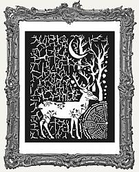 Stamperia Stencil - Cosmos Deer and Bark