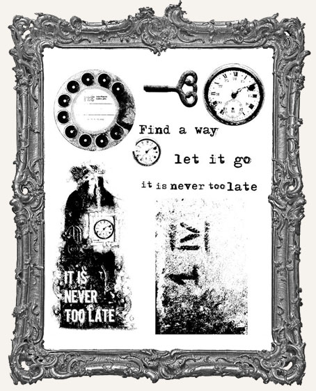 Finnabair Cling Mount Stamp Set - Never Too Late