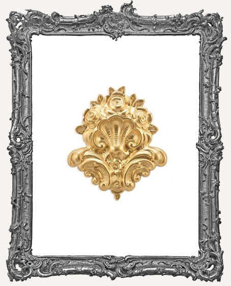 Brass Fancy Shell Decoration - 1 Piece