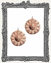 Copper Sun Amulet Pendant Charm