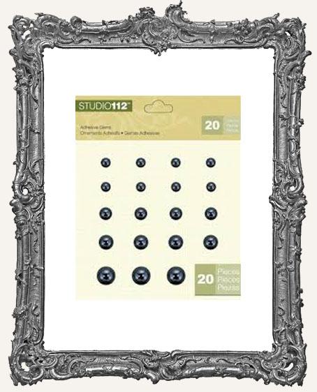 Studio 112 Adhesive Gems - Gems 1 Black Pearl