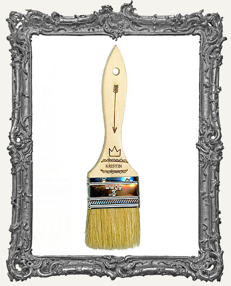 Personalized Engraved Paint Brush - Art Queen