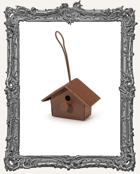 Mini Rusted Birdhouse - 1 inch