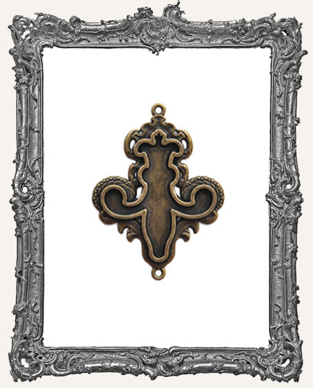 A Gilded Life Bronze or Silver - Fleur Bezel LARGE