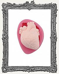Small Pink Silicone Mold - Anatomy Mold - Anatomical Heart
