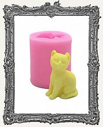 Small Pink Silicone Mold - 3D Sitting Cat