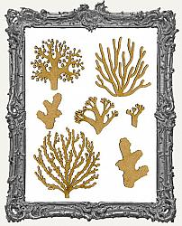 Chipboard Coral Cut-Outs - Style 3 - 7 Pieces