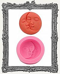 Small Pink Silicone Mold - Sun and Moon