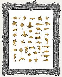 MINI Chipboard Sea Creature Cut-Outs - 40 Pieces