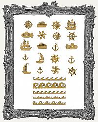 MINI Chipboard Sea Icon Cut-Outs - 25 Pieces