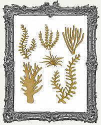Chipboard Seaweed Cut-Outs - Style 2 - 6 Pieces