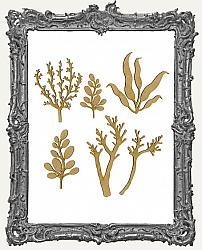 Chipboard Seaweed Cut-Outs - Style 3 - 6 Pieces