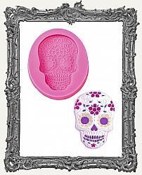 Small Pink Silicone Mold - Sugar Skull