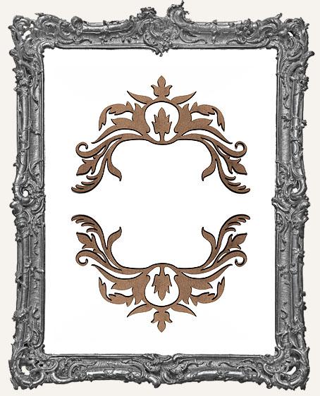 Ornate Flourish Cut-Outs Style 4 - Set of 2