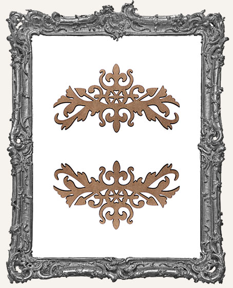 Ornate Flourish Cut-Outs Style 5 - Set of 2