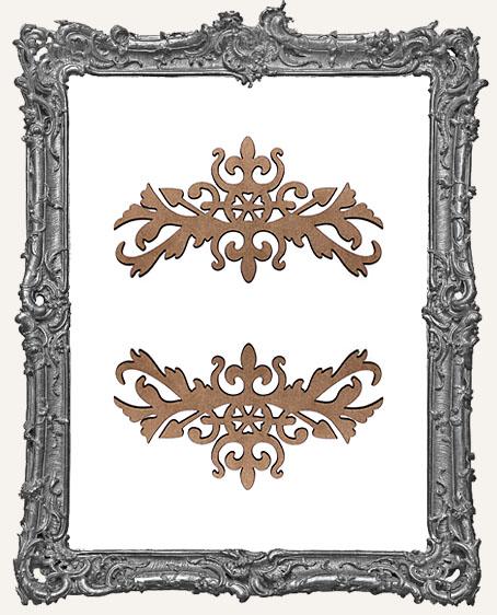 Ornate Flourish Cut-Outs Style 5 - Set of 2