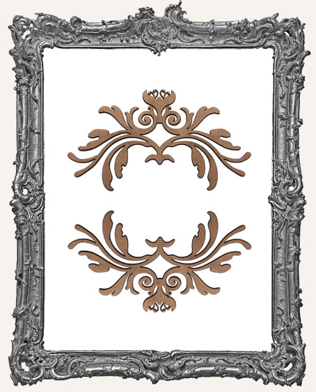 Ornate Flourish Cut-Outs Style 6 - Set of 2