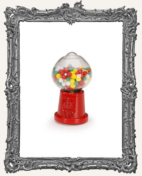 Miniature Red Gumball Machine - 1.25 Inches