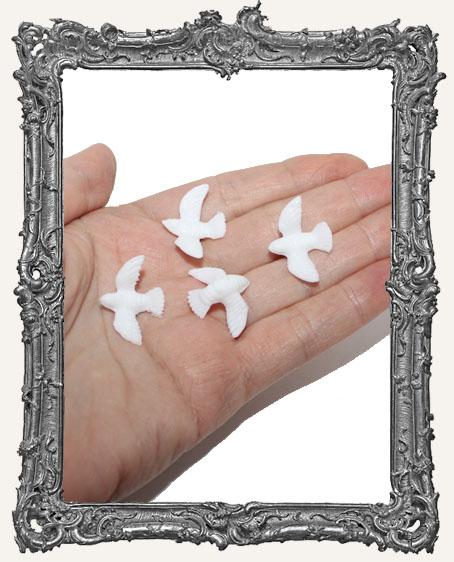 Mini Dove - White - 3/4 Inch - 4 Pieces