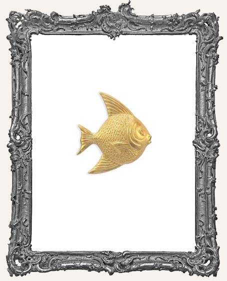 Brass Fancy Fish Charms - Set of 2