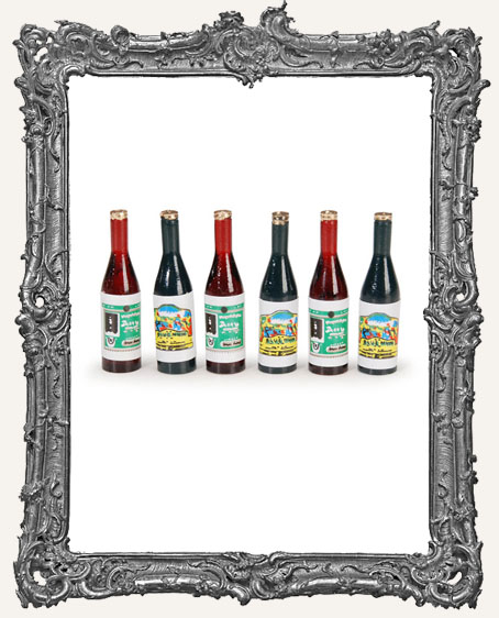 Miniature Wine Bottles - 1-3/4 Inches - 6 Pieces